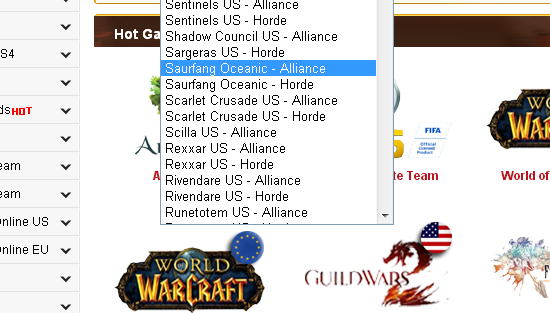 World of Warcraft US New Servers(Realms)